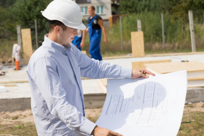 a man planning for the building