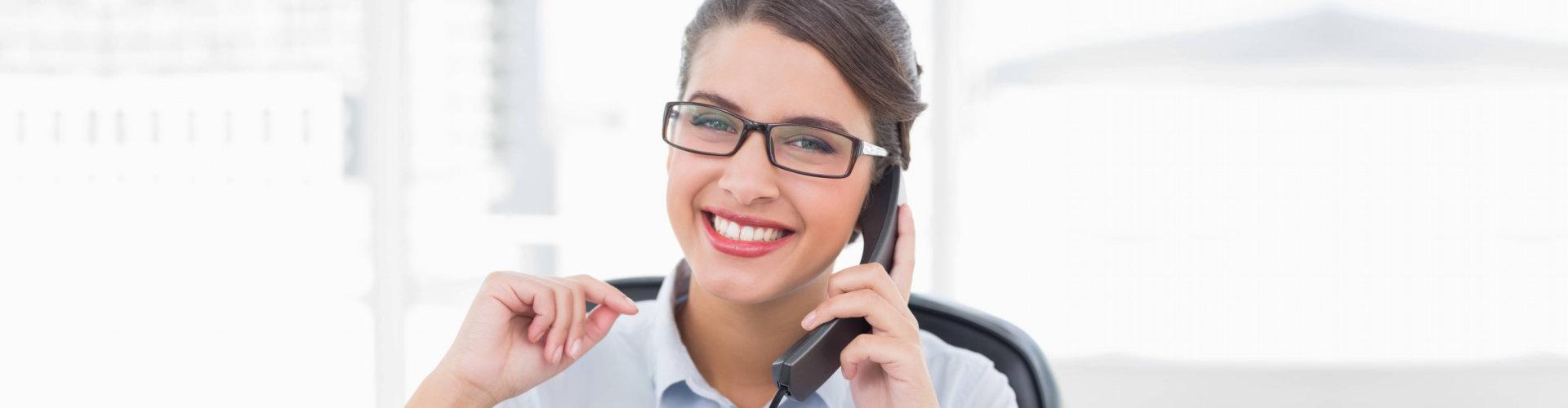 staff using the telephone